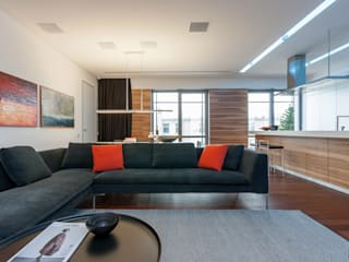 apartment V-21 Minimalistische Wohnzimmer von VALENTIROV&PARTNERS Minimalistisch