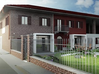 Render esterno 1: Case in stile In stile Country di Archisign