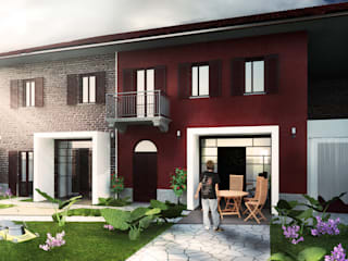 Render esterno 2: Case in stile In stile Country di Archisign