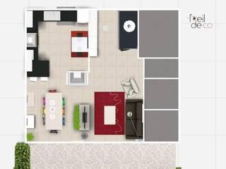 Plan 2D: Cuisine de style  par L'Oeil DeCo