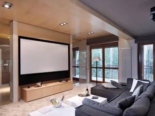 Salas multimídia modernas por 3deko Moderno