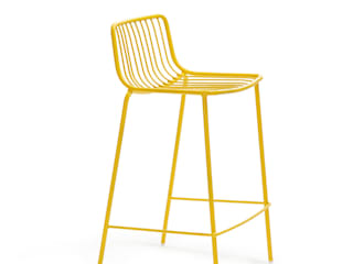 'Nola' steel Indoor/Outdoor stool by Pedrali di My Italian Living Moderno Ferro / Acciaio