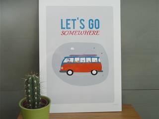 Affiche Van Let's go somewhere par icilaterre Éclectique