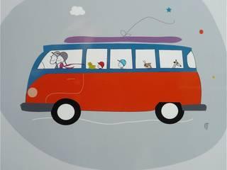 Affiche Van Let's go somewhere:  de style  par icilaterre