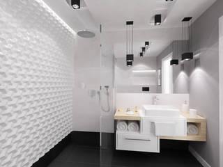 Łazienka Black&White: styl , w kategorii Łazienka zaprojektowany przez Tarna Design Studio