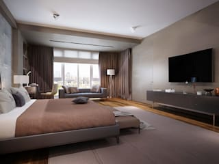 غرفة نوم تنفيذ KAPRANDESIGN