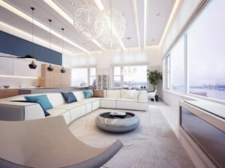 modern Living room by KAPRANDESIGN