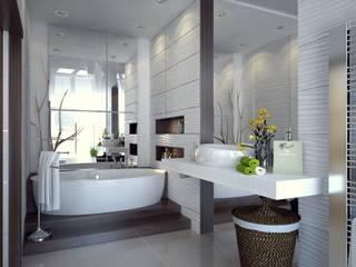 Modern Bathroom by Виталия Бабаева и Дарья Дикая Modern