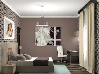 Eclectic style bedroom by Виталия Бабаева и Дарья Дикая Eclectic