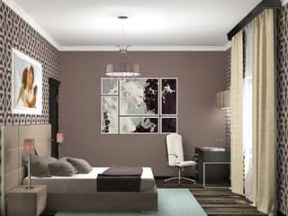 Camera da letto eclettica di Виталия Бабаева и Дарья Дикая Eclettico