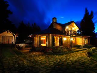 Casas de estilo rural por Patagonia Log Homes