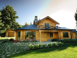 Patagonia Log Homes - Arquitectos - Neuquén 獨棟房 木頭 Wood effect