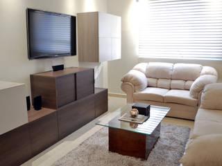 SAN ISIDRO by APOTEMA INTERIORS Salones modernos de APOTEMA Estudio de Diseño Moderno Tablero DM