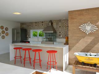 Espaço gourmet: Terraços  por Pinheiro Martinez Arquitetura