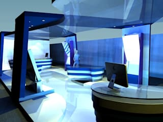 pb Arquitecto Exhibition centres Wood-Plastic Composite Blue