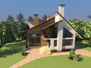 Архитектурный проект частного дома в стиле фахверк (half-timbered): Дома в . Автор – Студия дизайна и архитектуры Zherdi