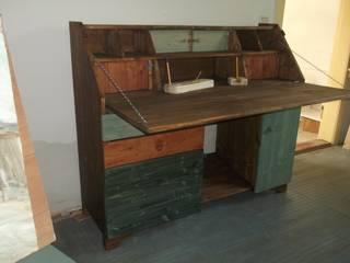 """Sekretär,Schreibtisch """" Skagen """", bunt lasiert:   von Holzlust-Galerie im Oderbruch-"""