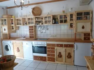 """Küche nach Maß """" droem kvinde """",Vollholz-geölt,teilweise lasiert:   von Holzlust-Galerie im Oderbruch-"""