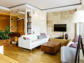 Anna Serafin Architektura Wnętrz 现代客厅設計點子、靈感 & 圖片