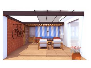Reforma de una terraza Balcones y terrazas de estilo mediterráneo de Ivan Gas Chulbi Mediterráneo