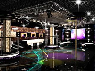 Ночной клуб - общий зал: Бары и клубы в . Автор – ПРОЕКТНАЯ СТУДИЯ Ирины Щуровой ДОМ