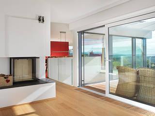 Balcones y terrazas de estilo moderno de Binder Architektur AG Moderno