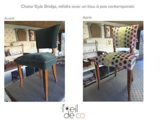 Chaise Bridge tissu à pois:  de style  par Corinne Perdrix Hans