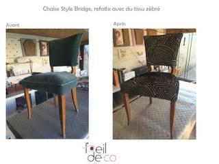 Chaise bridge Tissu graphique:  de style  par Corinne Perdrix Hans