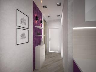 дизайн-бюро ARTTUNDRA Minimalist corridor, hallway & stairs