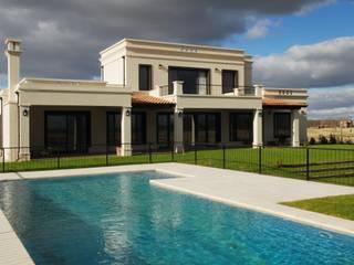 contrafrente: Casas de estilo  por Parrado Arquitectura