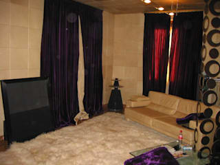 Eclectic style media room by Rizzo 1830 Eclectic