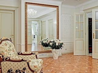 AR-KA architectural studio Classic corridor, hallway & stairs