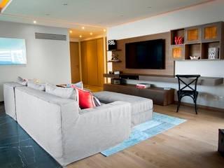 Departamento CL Salas multimedia modernas de Concepto Taller de Arquitectura Moderno