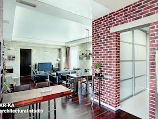 Модернизм в исторической среде Кухня в стиле лофт от AR-KA architectural studio Лофт