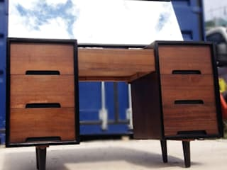 WALNUT 'C' RANGE DRESSING TABLE BY JOHN & SYLVIA REID FOR STAG, CIRCA 1953. : classic  by Twin Palms Vintage, Classic