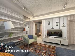 Salas de estilo industrial de AR-KA architectural studio Industrial