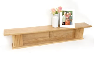 Oak shelf: country  by Cairn Wood Design Ltd, Country