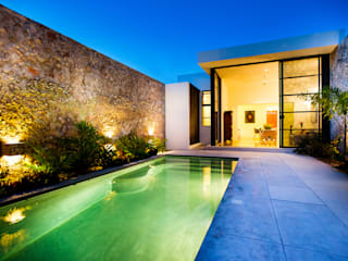 Casa FS55: Jardines de estilo moderno por Taller Estilo Arquitectura