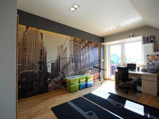Projekt wnętrza domu w Łodzi 160mkw.: styl , w kategorii Pokój dziecięcy zaprojektowany przez Piotr Stolarek Projektowanie Wnętrz