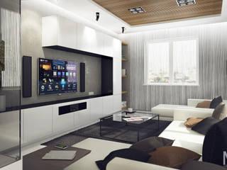 Phòng khách phong cách tối giản bởi M5 studio Tối giản