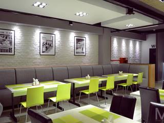 Интерьер пиццерии  #buongiorno: Ресторации в . Автор – M5 studio,