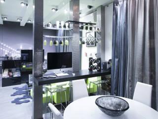 вид из кухни на зону гостиной:  в . Автор – Архитектурно-дизайнерское бюро Натальи Медведевой 'APRIORI design'