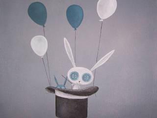 les animaux voyageurs, le lapin magicien(vendue):  de style  par l'atelier de Cassandre