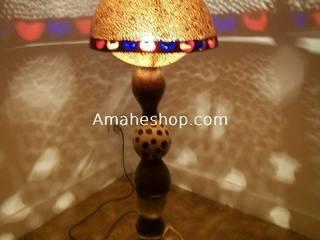 Standing lamp:  de style  par Amahe Luminaires Artistiques en Calebasse  (luminaire therapeutique)