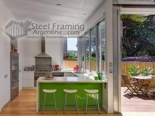 Interiores de Casas en Steel Framing: Cocinas de estilo  por Steel Framing Argentina