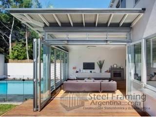 Interiores de Casas en Steel Framing: Terrazas de estilo  por Steel Framing Argentina,Moderno