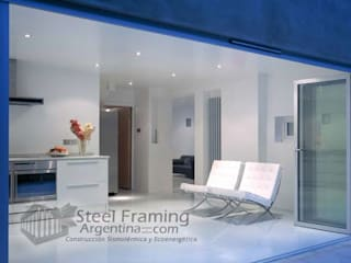Interiores de Casas en Steel Framing Livings modernos: Ideas, imágenes y decoración de Steel Framing Argentina Moderno
