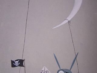 les animaux voyageurs, le pirate au bateau en papier(vendue):  de style  par l'atelier de Cassandre
