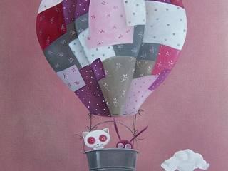 les animaux voyageurs, la montgolfière(vendue):  de style  par l'atelier de Cassandre