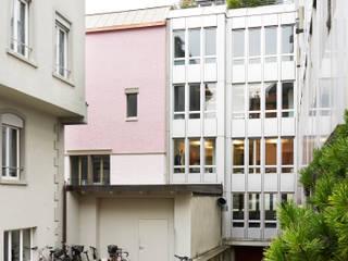 Ansicht vom Hof:  Häuser von Käferstein & Meister   Dipl. Architekten ETH BSA SIA
